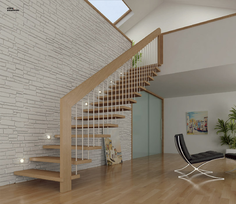 Escaleras de madera maderas y puertas g2 - Barandillas de escaleras interiores ...