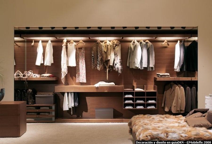 Galer a interiores de armarios y vestidores maderas y - Armarios de hierro ...