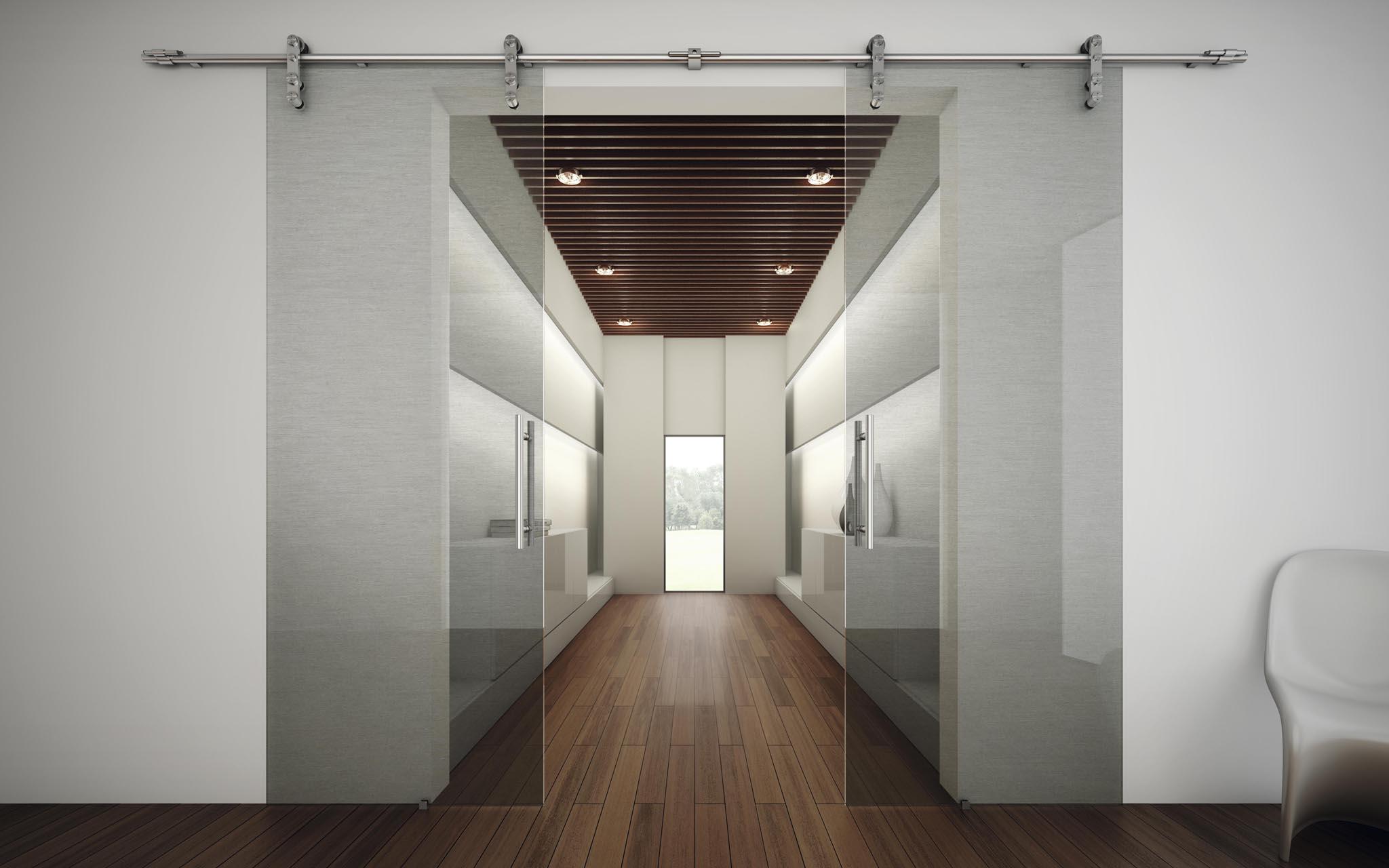 Puertas de interior cristal maderas y puertas g2 for Puertas grises de interior