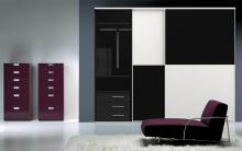 Serie 100 2C HPL blanco + HPL negro