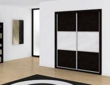 Serie 200 Mod. 3C HPL negro + cristal blanco