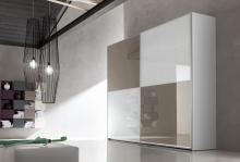 Serie 300 Mod. 2C cristal lacobell blanco y moka