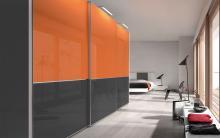 Serie 300 Mod. F14 cristal gris + naranja