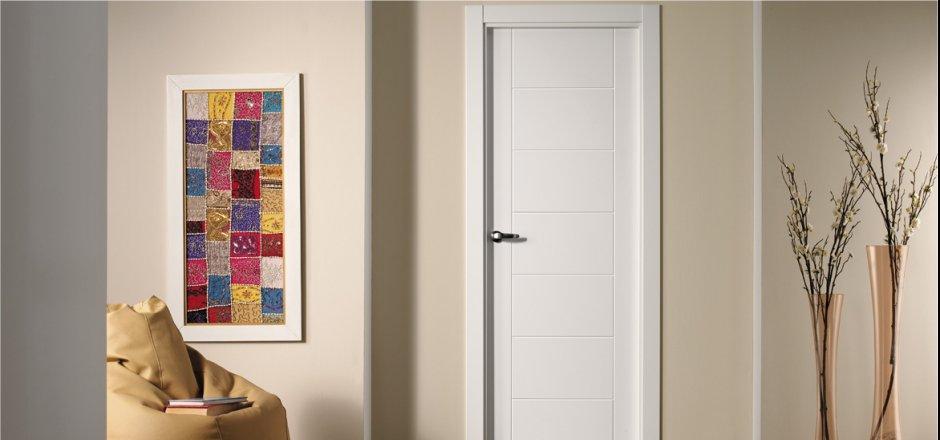 Decoracion puertas blancas top armarios puertas gris - Decoracion paredes blancas ...